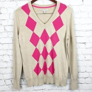 Old Navy Diamond Pattern V-Neck Sweater